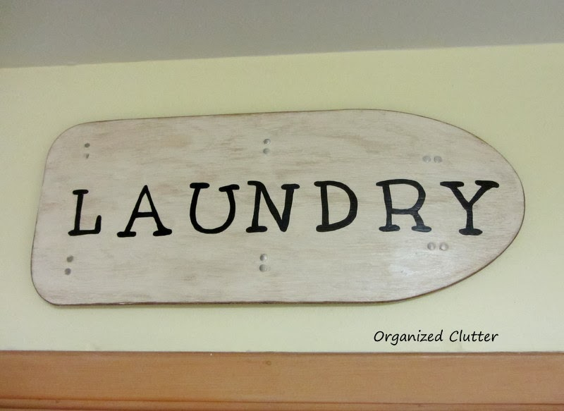 Small Ironing Board Laundry Sign