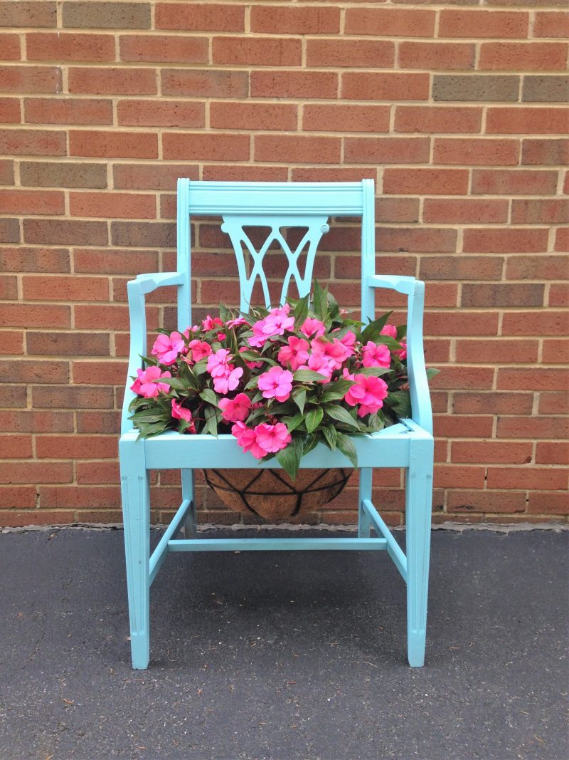 Turn an Old Chair into a Planter