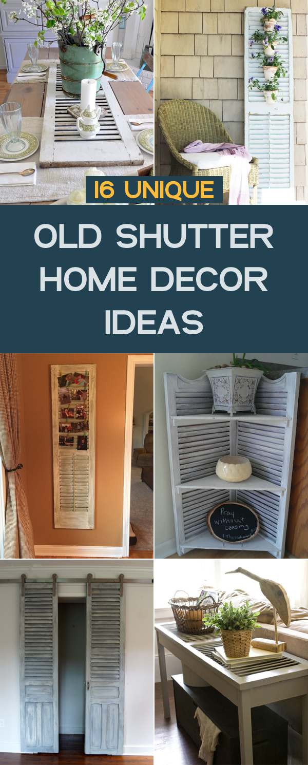 16 unique old shutter home decor ideas for Unique home decor ideas