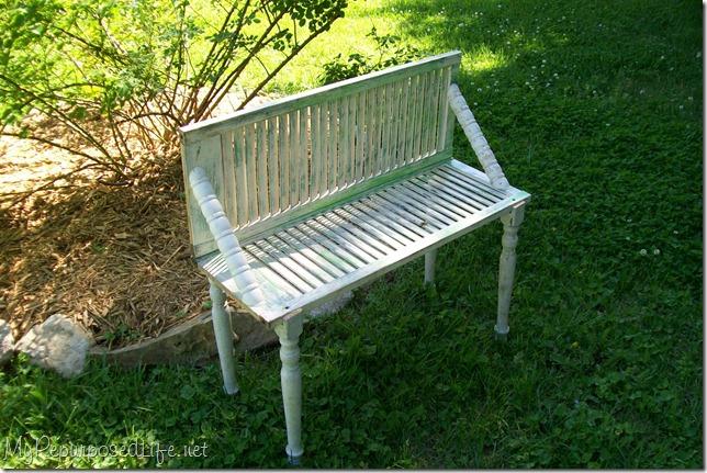 cute garden plant bench