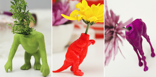 Wild Animal Bud Vases