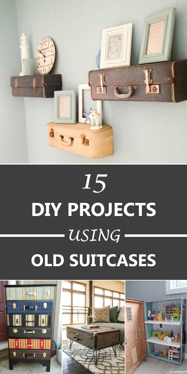 15 Amazing DIY Projects Using Old Suitcases
