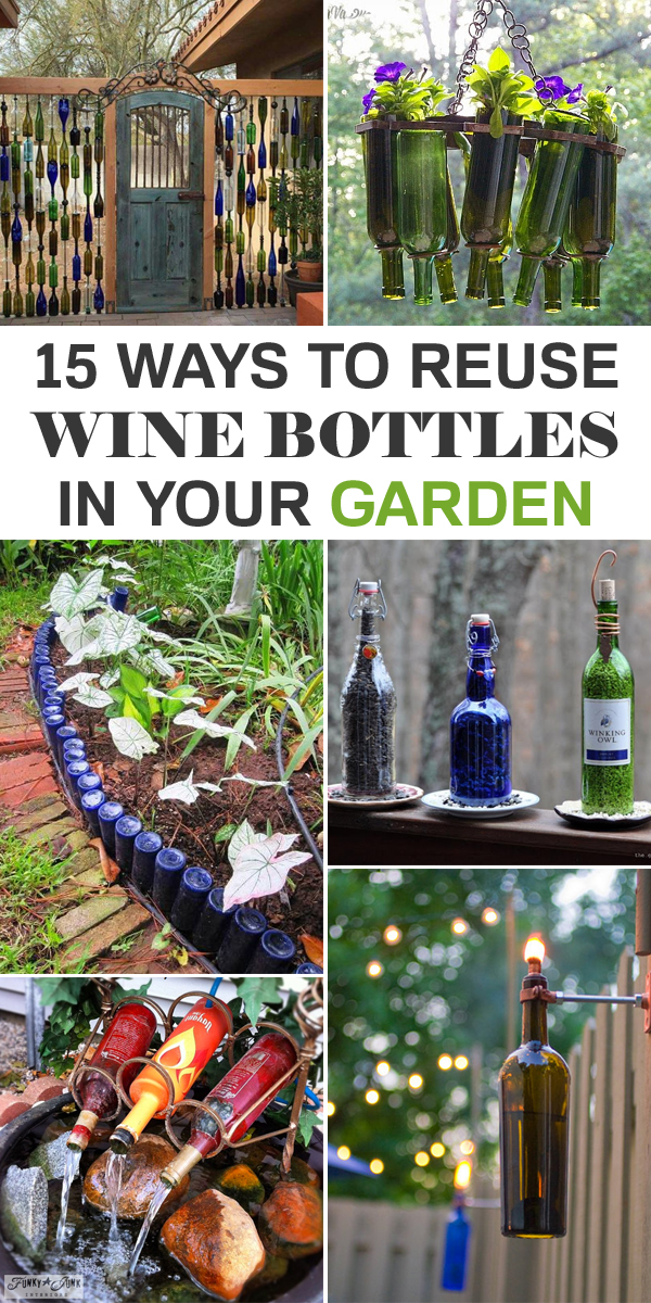 15 awesome ways to reuse wine bottles in your garden for How to use wine bottles in the garden