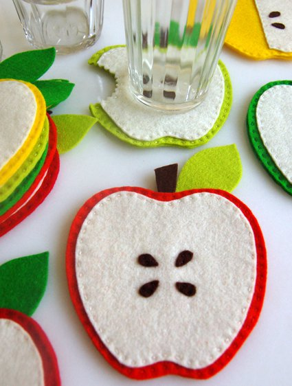 Apple Coasters
