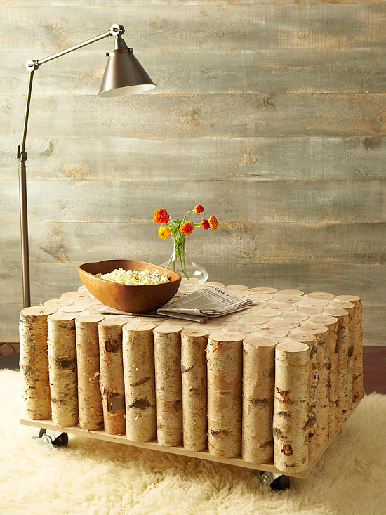 Birch-Log Coffee Table