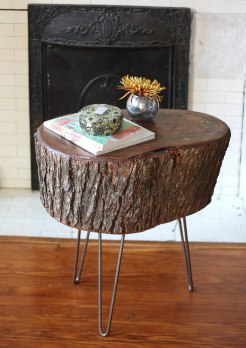 Cofee Table from a Slice of Tree Stump
