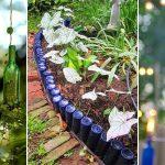 DIY Wine Bottle Ideas for the Garden