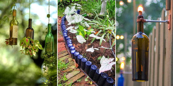 12 amazing diy bird feeders you can make from recycled for Wine bottle material