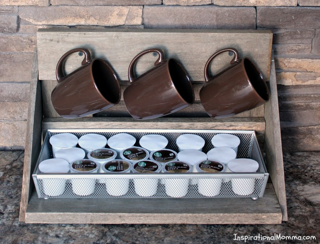 Mug Rack with K-Cup Storage