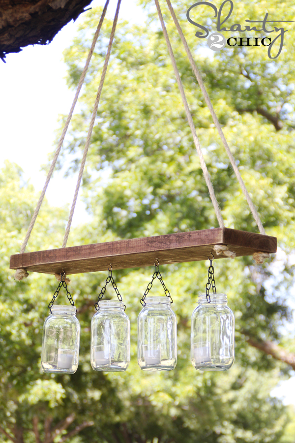 Outdoor Mason Jar Chandelier for $10