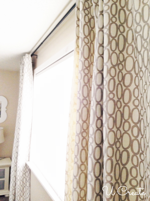 Ribbon-Tabbed Curtains