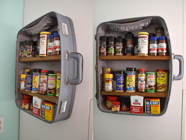 Suitcase Spice Rack
