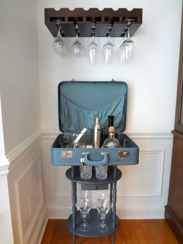 Vintage Suitcase Table Bar