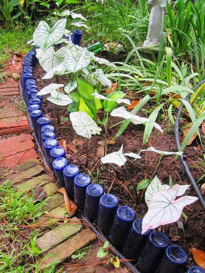 Wine Bottle Garden Edging