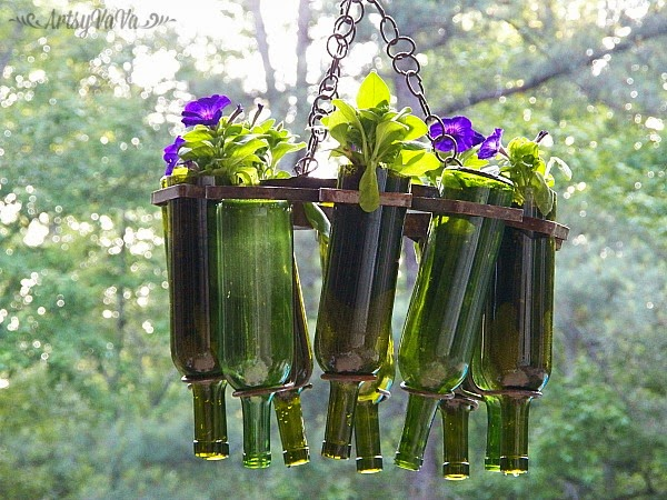 Wine Bottle Hanging Basket