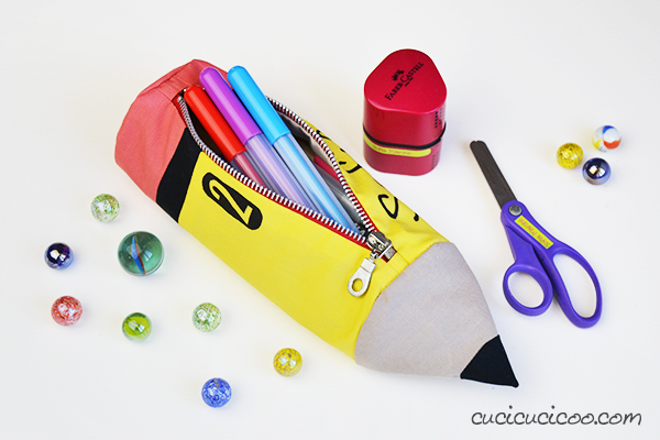 pencil-shaped pencil case