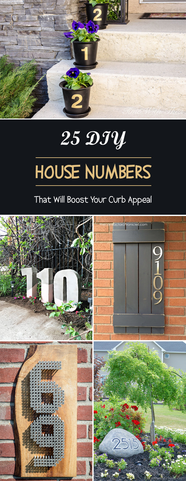 DIY House Numbers That Will Boost Your Curb Appeal