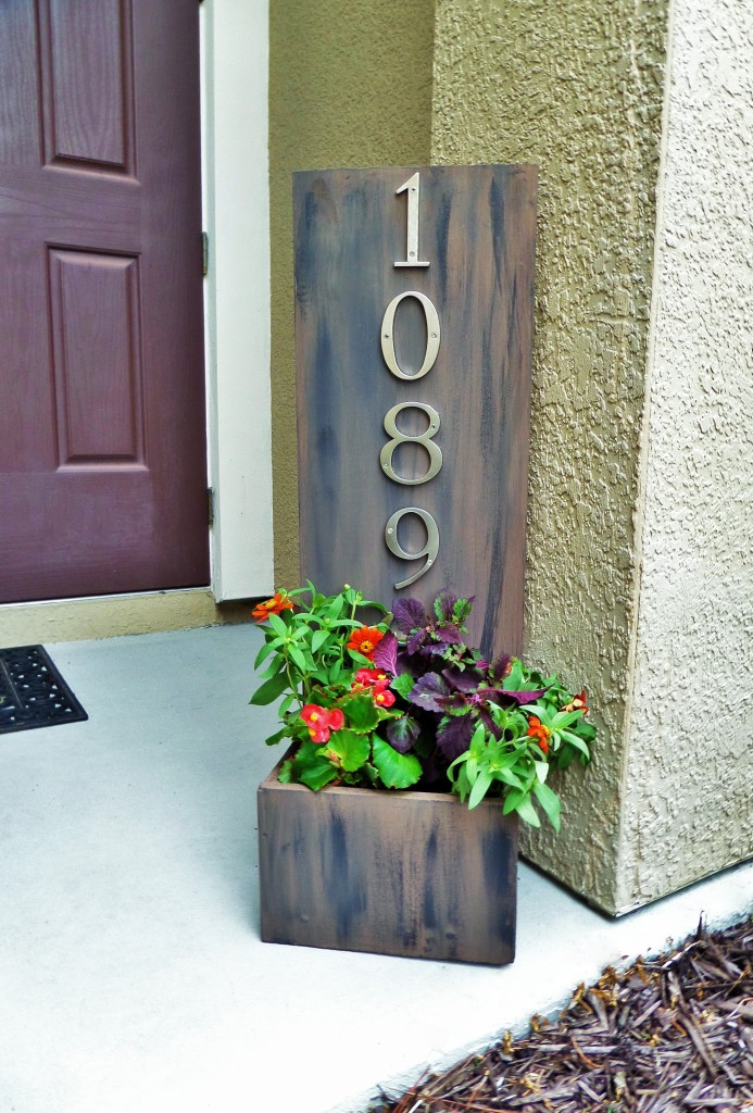 Address Plaque Planter Box