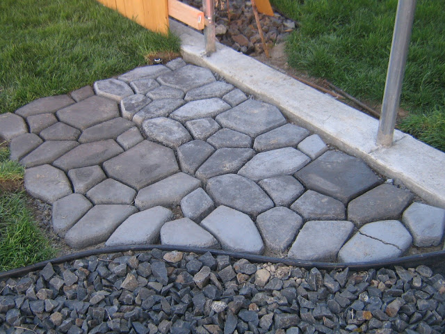 Concrete Cobblestone Path