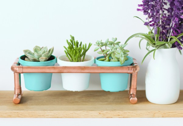Copper Pipe Pot Plant Holder
