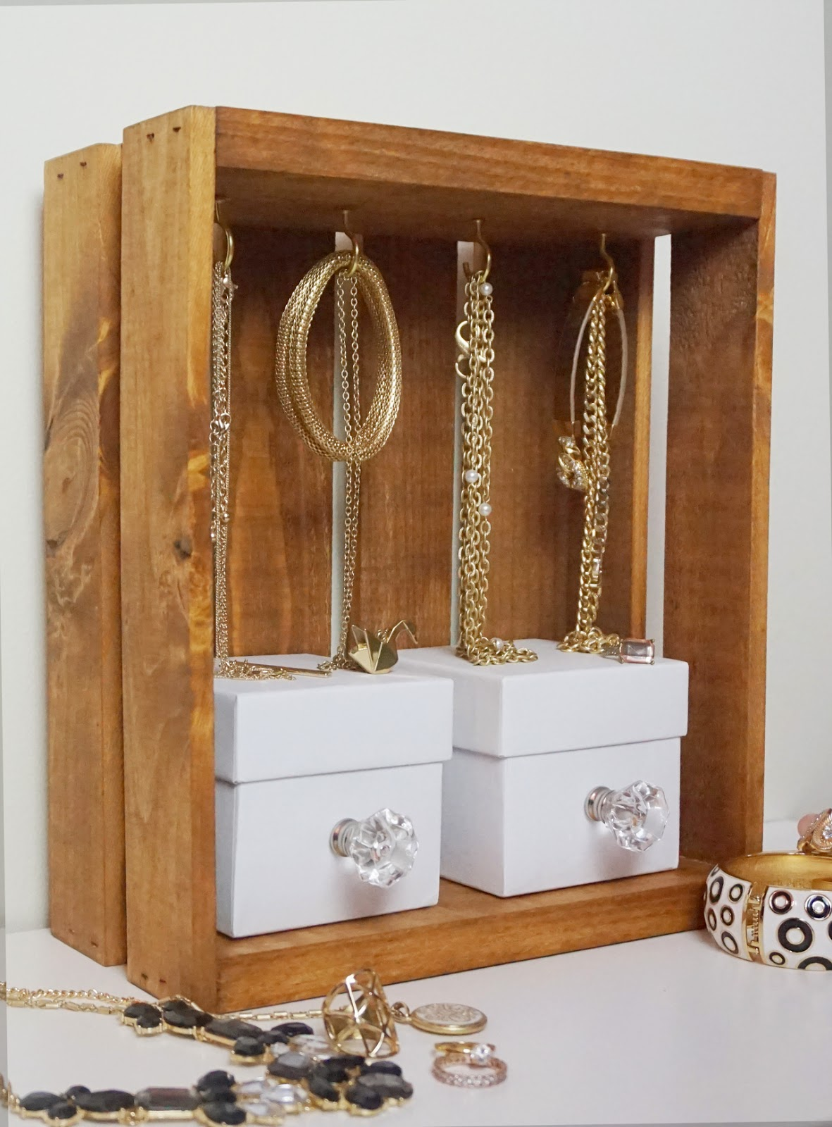 Crate Jewelry Display