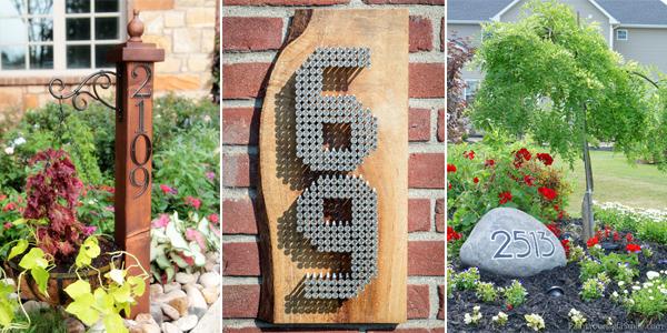 DIY house number ideas