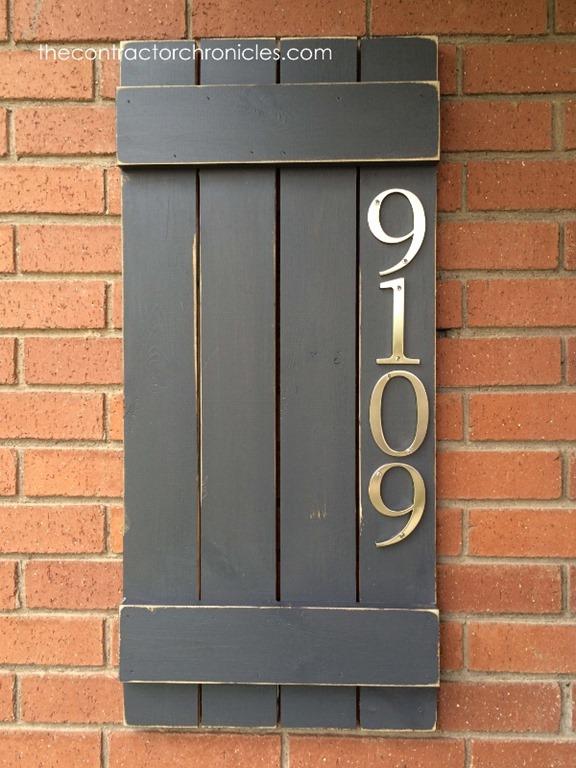 House Number Shutter