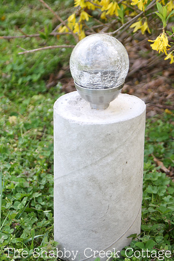 Industrial Style Concrete Pillar Solar Light
