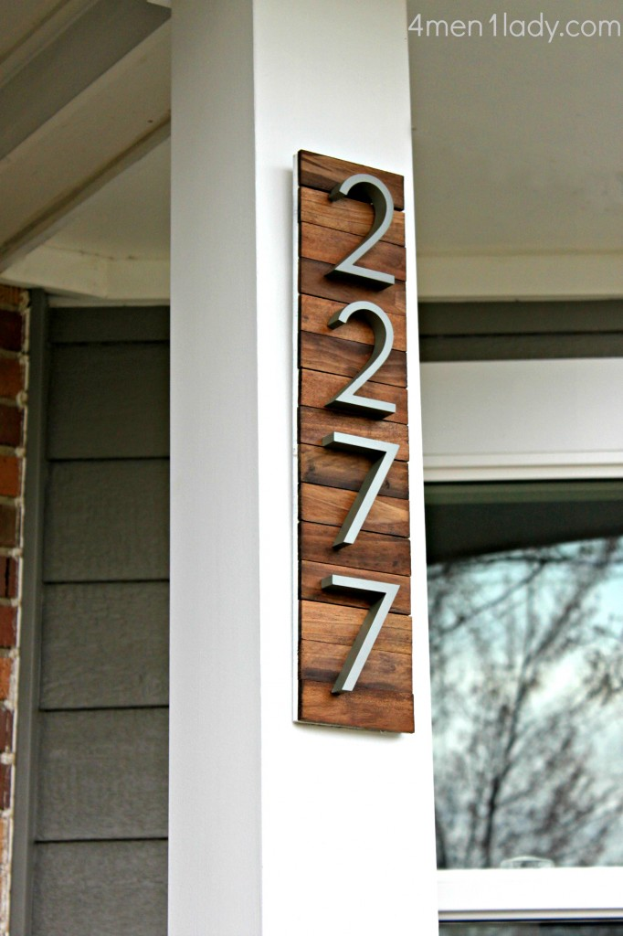 Modern Metal And Wood Numbers