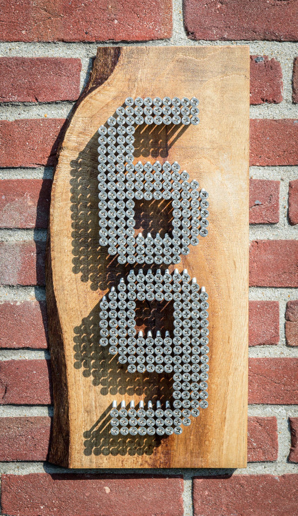 3D numbers made from Wood Screws