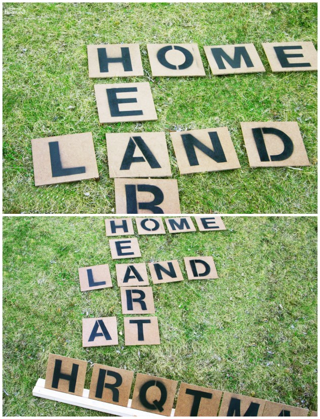 Outdoor Scrabble Game