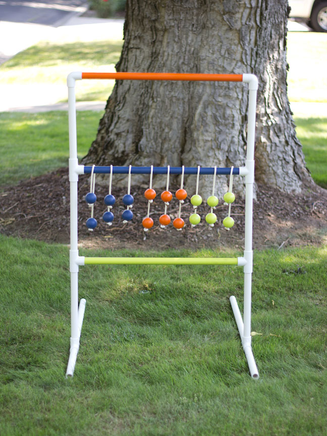 PVC pipe ladder golf game