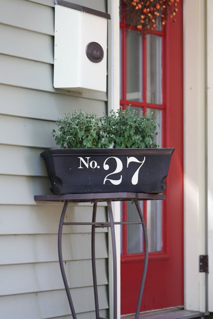 Window Box House Numbers