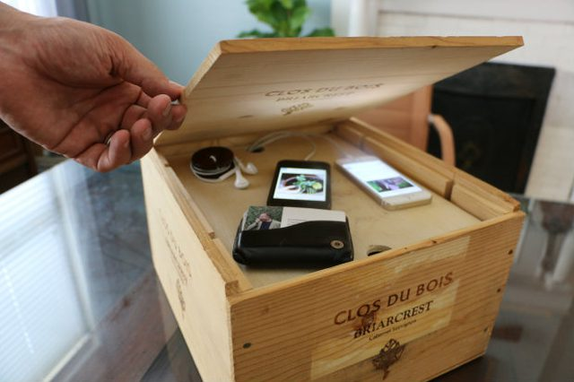Wine Crate Charging Station