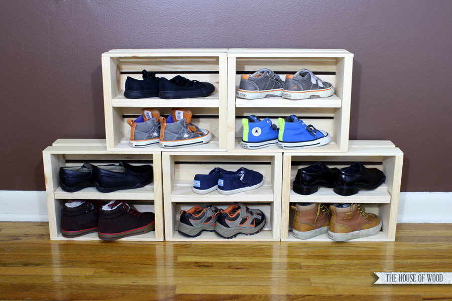 Wine Crate Shoe Storage 12 Amazing DIY