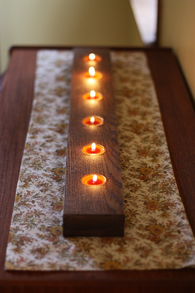 Wood Tealight Candle Holder