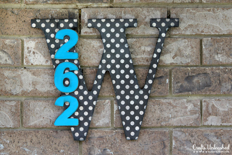 Wooden Monogram DIY House Numbers