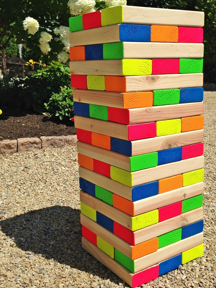Colorful Outdoor Giant Jenga Game