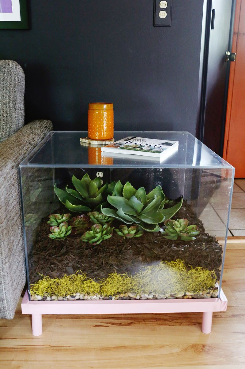 terrarium side table