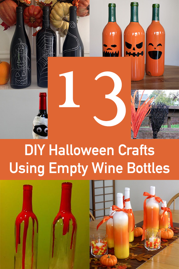 13 Easy DIY Halloween Crafts Using Empty Wine Bottles