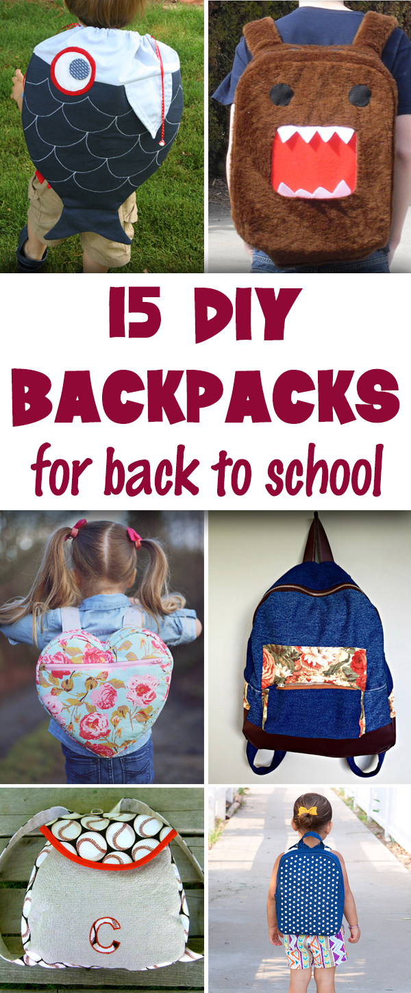 15 DIY Backpacks for Back-to-School