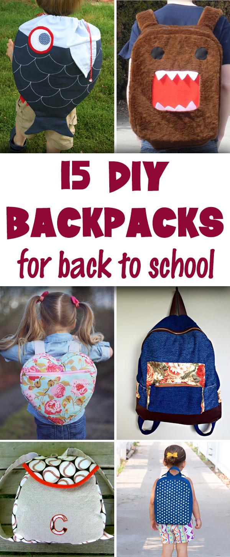 15 DIY Backpacks for Back-to-School