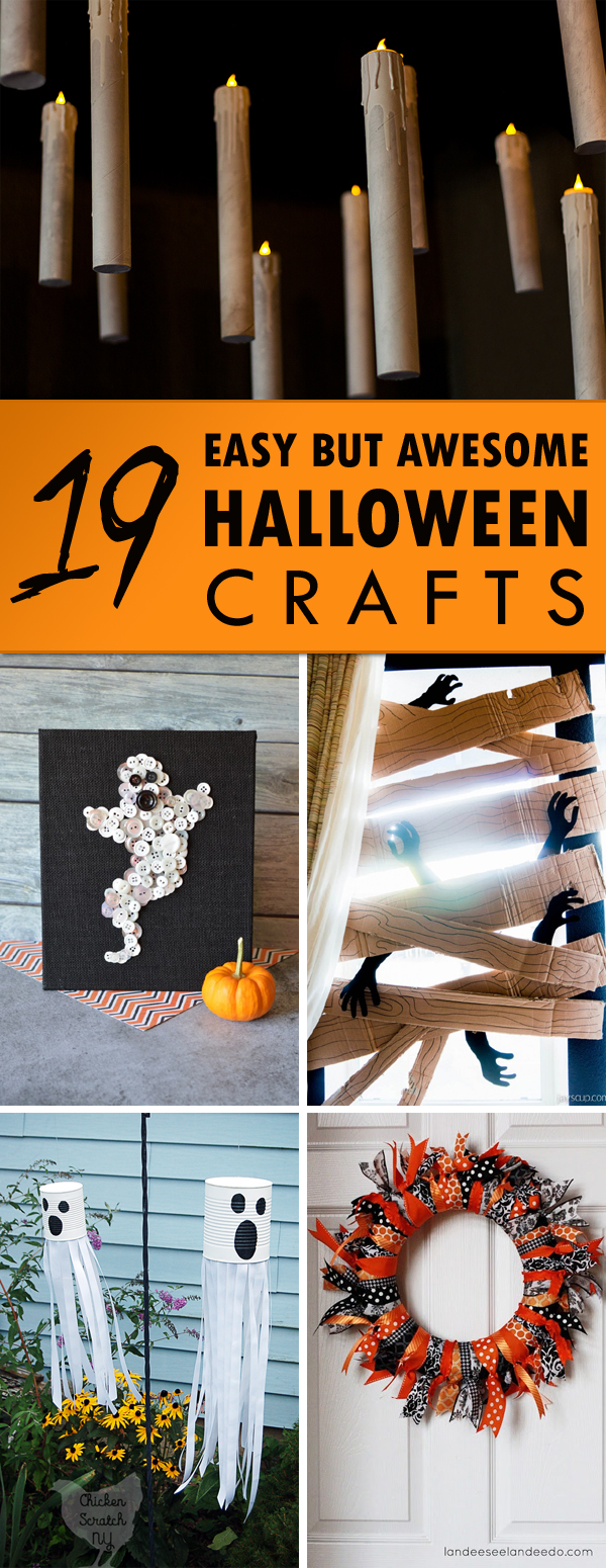 19 Easy But Awesome Halloween Crafts