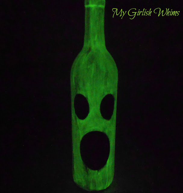Glow-in-the-Dark Wine Bottle Ghost