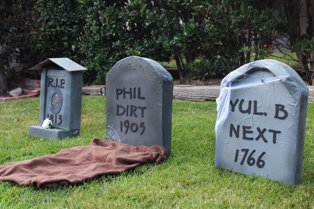 Make Cardboard Tombstones