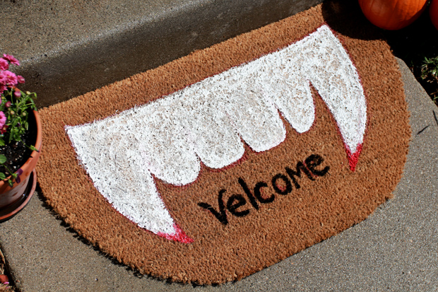 Make a Spooky Welcome Mat