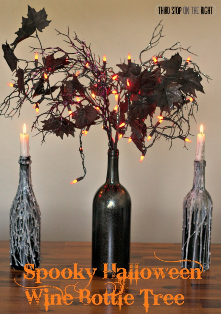 Spooky Halloween Wine Bottle Tree Decoration