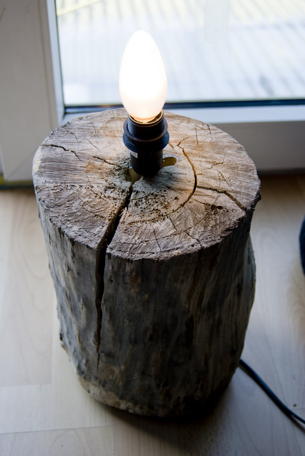 Lamp from a Tree Stump