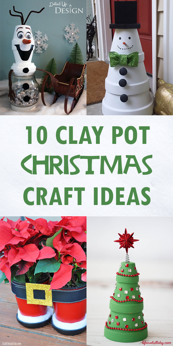 10 Creative Clay Pot Christmas Craft Ideas