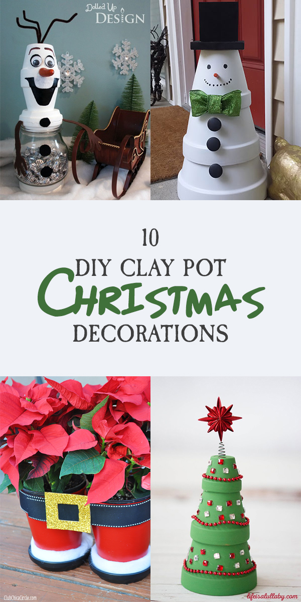 10 DIY Clay Pot Christmas Decorations
